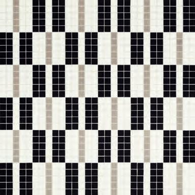 Alternance Noir & Blanc Mosaic by Bisazza | Glass mosaics