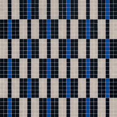 Alternance Bleue Mosaic by Bisazza | Glass mosaics