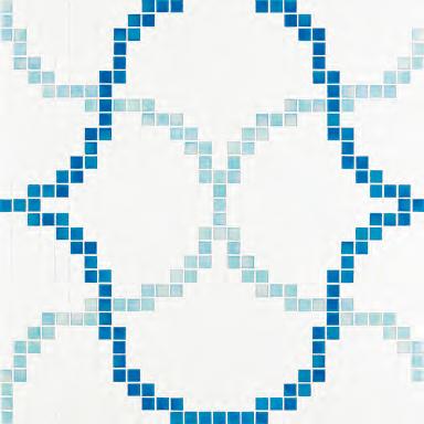 Liaisons Blue mosaic di Bisazza | Mosaici vetro