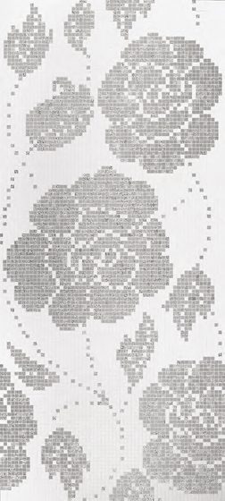 Winter Flowers Oro Bianco mosaic by Bisazza | Glass mosaics