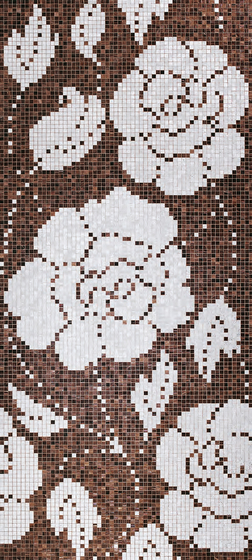 Winter Flowers Oro Nero mosaic by Bisazza | Glass mosaics