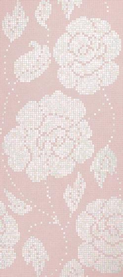 Winter Flowers Pink mosaic von Bisazza | Glas Mosaike