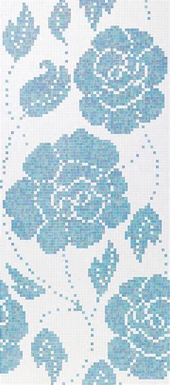 Winter Flowers Blue mosaic von Bisazza | Glas Mosaike
