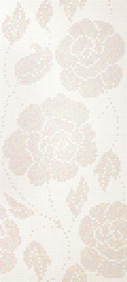 Winter Flowers Bianco mosaic von Bisazza | Glas Mosaike