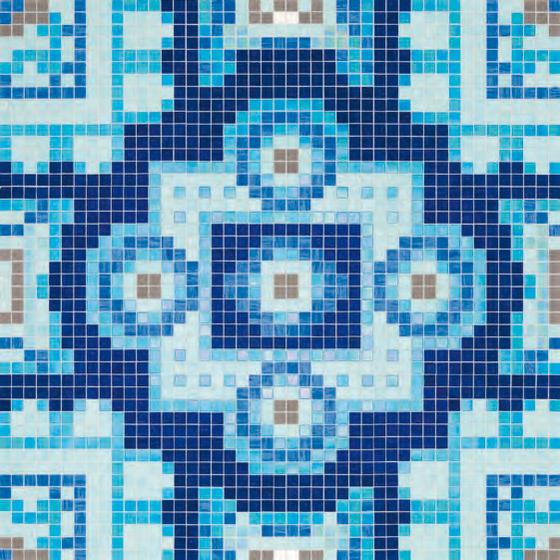 Silk Blue mosaic by Bisazza | Glass mosaics