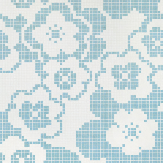 Garden Blue mosaic by Bisazza | Glass mosaics