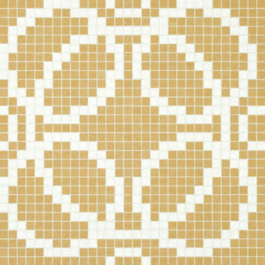Circles Beige mosaic by Bisazza | Glass mosaics