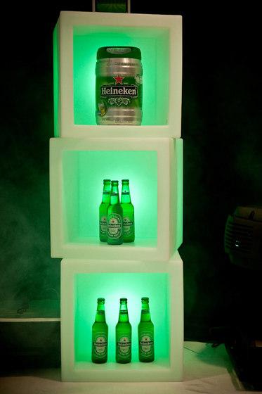 Open Cube de Slide | Illuminated shelving