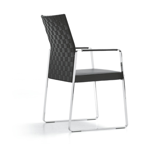 CORPO Skid-frame chair by Girsberger | Visitors chairs / Side chairs