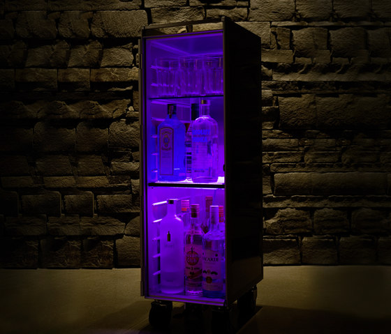 bordbar LED purple by bordbar | Tea-trolleys / Bar-trolleys