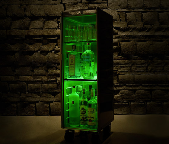 bordbar LED green by bordbar | Tea-trolleys / Bar-trolleys