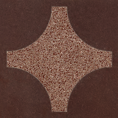 Cross Brown glass tile de Bisazza | Suelos de vidrio