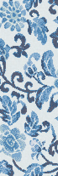 Summer Flowers Blue B mosaic by Bisazza | Glass flooring