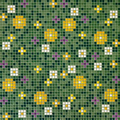 Primule 2 mosaic by Bisazza | Glass flooring