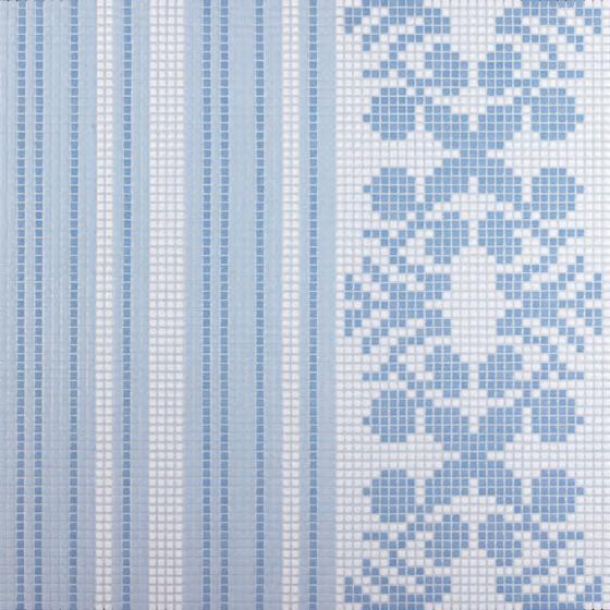 Wallpaper Blue mosaic by Bisazza | Glass flooring