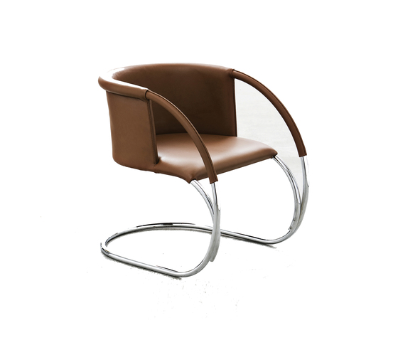 ML 33, leather Cognac von by Lassen | Loungesessel