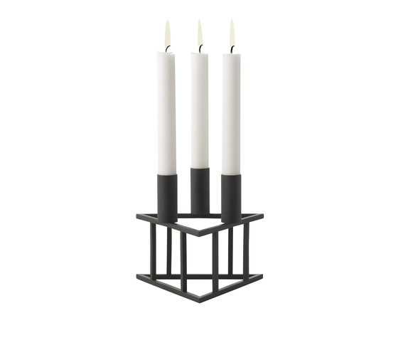 Triangle Black by by Lassen | Candlesticks / Candleholder