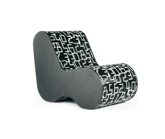 Single Soft Mosaic Data Black by Bisazza | Lounge chairs