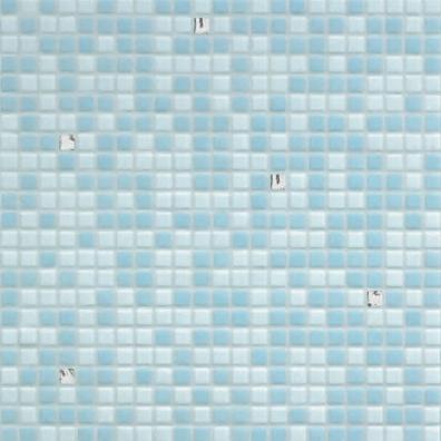 Opus Romano | Azzurra Oro Bianco di Bisazza | Mosaici vetro