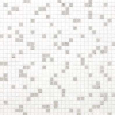 Princess White mosaic de Bisazza | Mosaïques verre