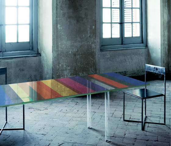 The Dark Side of the Moon by Glas Italia | Dining tables