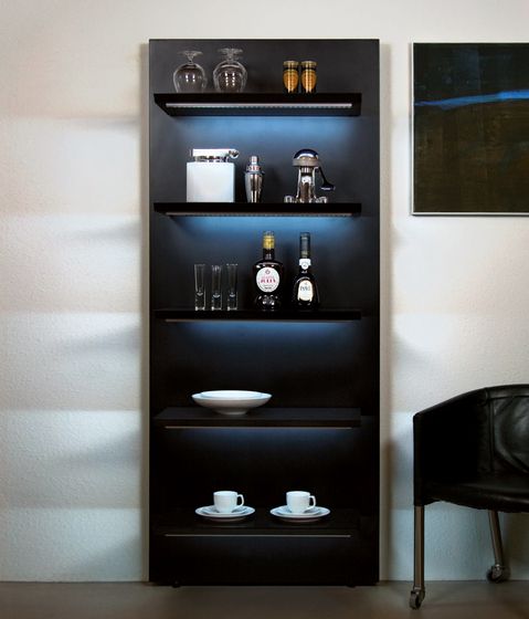 LED - Slide 6/8 wall unit by Serafini | Wall storage systems