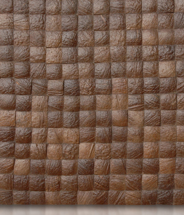 Cocomosaic tiles espresso grain 04-210 by Cocomosaic | Coconut mosaics