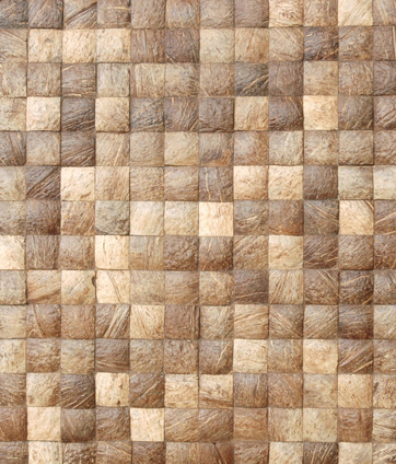 Cocomosaic tiles natural grain 04-47 de Cocomosaic | Mosaïques en coco