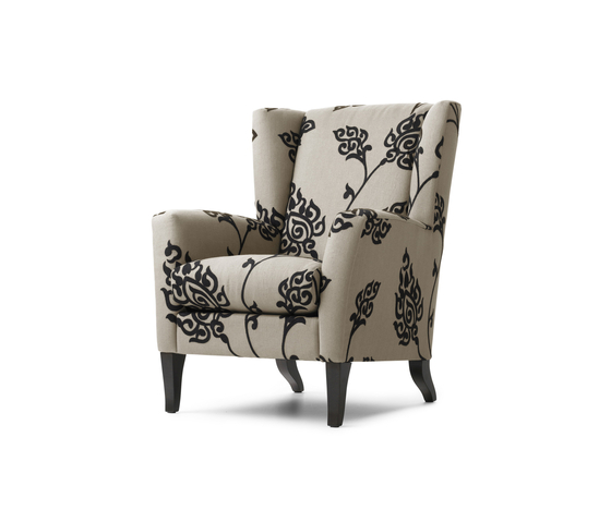 Aleeya by bench grande armchair small armchair product for Small white armchair