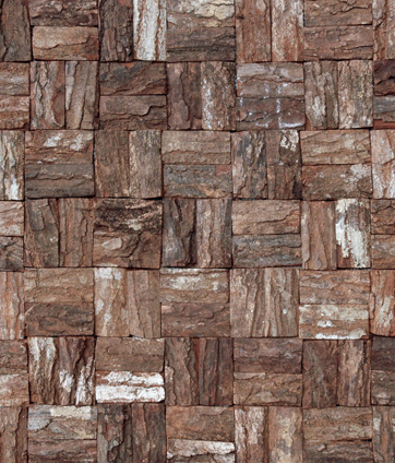 Cocomosaic wooden bark mosaic tiles square by Cocomosaic | Wood mosaics