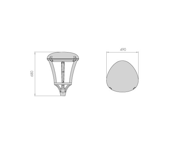 Meridian LED Mast light by LEDS-C4 | Street lights