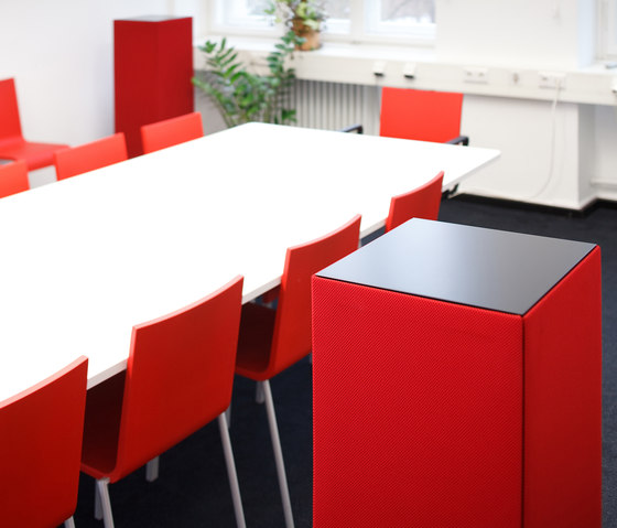 Sound Butler tbox TP35 red by Phoneon   Sound absorbing freestanding systems