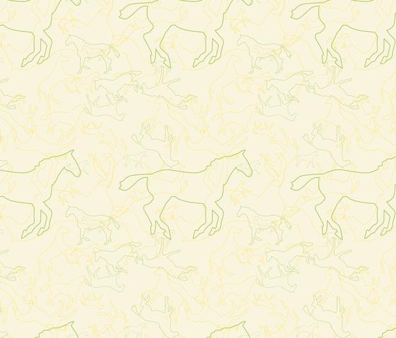 Esel & Pferde I Pferde | col2 di Sabine Röhse | Tessuti su misura