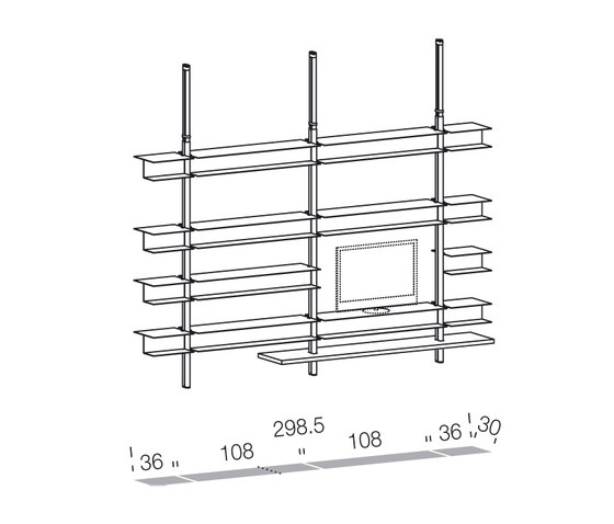 System SY11 by Extendo | Office shelving systems