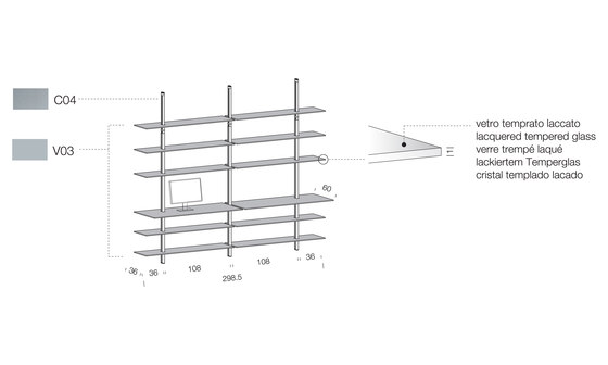 System SY07 by Extendo | Office shelving systems