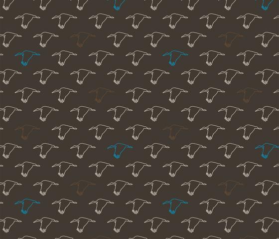 Störche I Vögel I Fabric di Sabine Röhse | Tessuti su misura