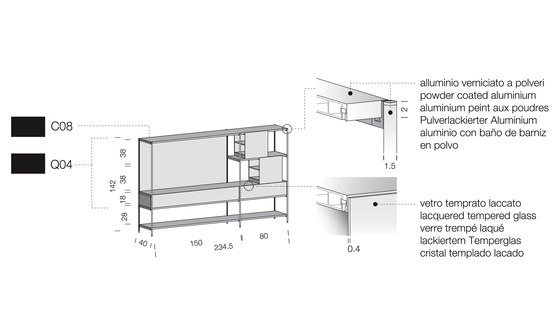 XY 02 by Extendo   Office shelving systems