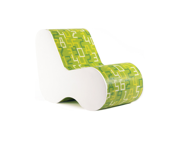 Single Soft Mosaic Data Green von Bisazza | Loungesessel