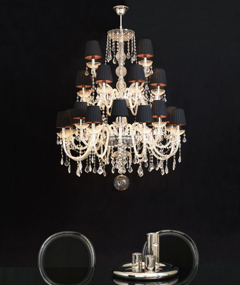 Marie Antoinette 28 bulbs by Bisazza | Ceiling suspended chandeliers