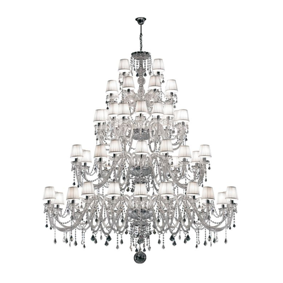 Marie Antoinette 44 bulbs by Bisazza | Ceiling suspended chandeliers