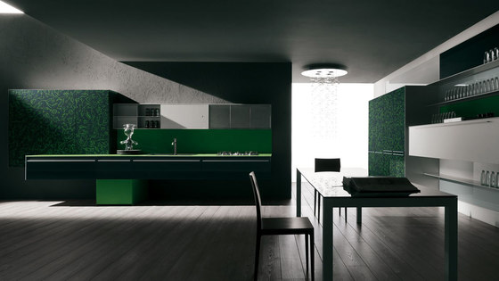 Artematica Vitrum Arte I Texture by Valcucine | Fitted kitchens