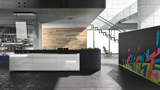 Artematica Vitrum Arte I Ugo Nespolo by Valcucine | Fitted kitchens