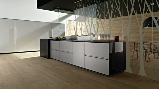 Artematica Multiline I Alluminio Finitura Acciaio by Valcucine | Fitted kitchens