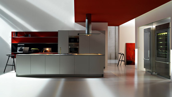 Artematica Multiline I Alluminio Rigato by Valcucine | Fitted kitchens