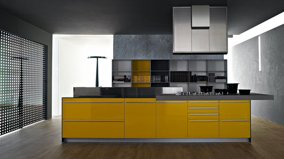 Artematica Multiline I Giallo senape by Valcucine | Fitted kitchens