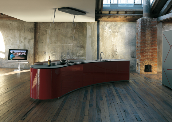Artematica Curva | Verre de Valcucine | Blocs-cuisines