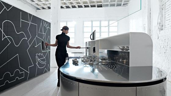 Artematica Curva | Stainless Steel by Valcucine | Kitchen furniture