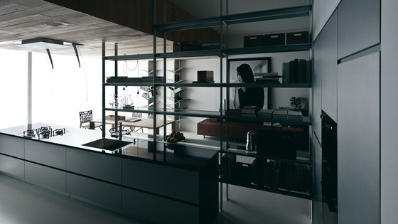 Riciclantica Multiline I Alluminio Rigato by Valcucine | Fitted kitchens