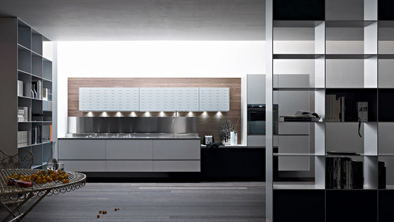 Riciclantica Laminato | Alluminio Verniciato Bianco by Valcucine | Fitted kitchens