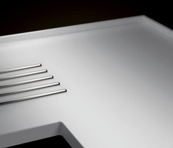 Worktops made of  Corian® de Hasenkopf | Fregaderos de cocina